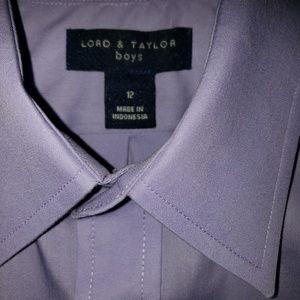 Lord & Taylor Lilac Boys Dress Shirt